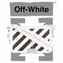 Off-White BINDER CLIP Unisex Street Style Leather Messenger & Shoulder Bags