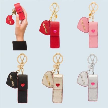 Heart Leather Keychains & Bag Charms