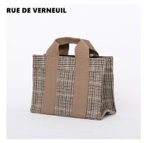 RUE DE VERNEUIL Casual Style Unisex Totes