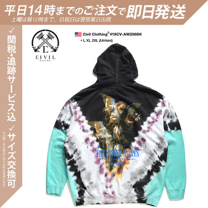Pullovers Skull Flower Patterns Unisex Sweat Street Style