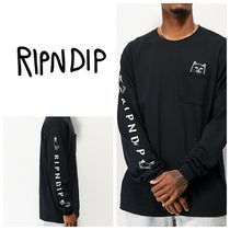 RIPNDIP Crew Neck Unisex Long Sleeves Plain Cotton