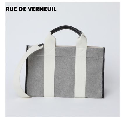 Unisex Plain Office Style Totes