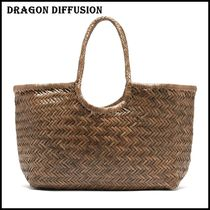 Dragon Diffusion Casual Style Plain Leather Totes