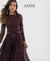 ASOS Long Sleeves Medium Party Style Lace Elegant Style Dresses