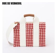 RUE DE VERNEUIL Zigzag Casual Style Elegant Style Totes