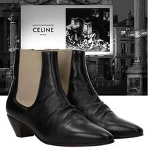CELINE Casual Style Blended Fabrics Bi-color Plain Leather