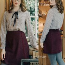 Miss Patina Other Check Patterns Long Sleeves Elegant Style