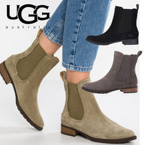 UGG Australia Plain Toe Rubber Sole Casual Style Suede Blended Fabrics
