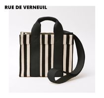 RUE DE VERNEUIL Stripes Casual Style Unisex Elegant Style Totes