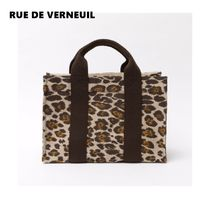 RUE DE VERNEUIL Casual Style Other Animal Patterns Elegant Style Totes