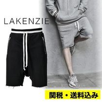 LAKENZIE Street Style Plain Cotton Oversized Sarouel Shorts