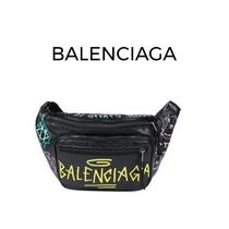 BALENCIAGA Unisex Lambskin 2WAY Hip Packs