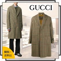 GUCCI Short Other Check Patterns Zigzag Wool Blended Fabrics