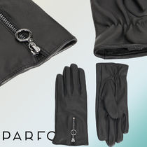 PARFOIS Plain Leather Leather & Faux Leather Gloves