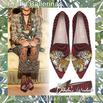 Pretty Ballerinas Zebra Patterns Casual Style Suede Other Animal Patterns