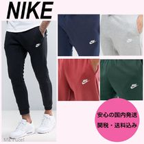 Nike Sweat Street Style Plain Cotton Joggers & Sweatpants