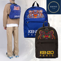 KENZO Nylon Street Style A4 Other Animal Patterns Backpacks