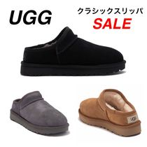 UGG Australia Round Toe Casual Style Suede Plain Slip-On Shoes