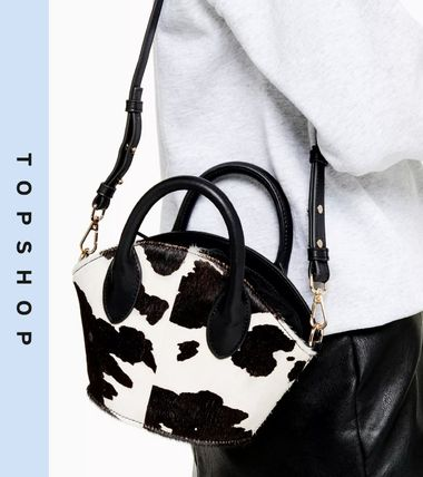 Casual Style Faux Fur 2WAY Other Animal Patterns Leather