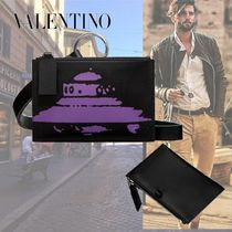 VALENTINO Calfskin Street Style 2WAY Leather Bags