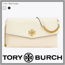Tory Burch KIRA Casual Style Unisex Blended Fabrics 2WAY Chain Plain Leather