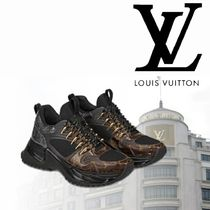 Louis Vuitton Monogram Blended Fabrics Street Style Sneakers