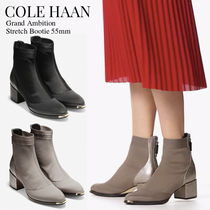 Cole Haan Street Style Plain Chunky Heels Ankle & Booties Boots