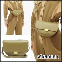 WANDLER Casual Style Plain Leather Elegant Style Shoulder Bags