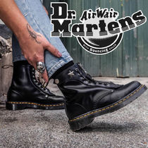 Dr Martens 1460 Star Lace-up Casual Style Unisex Street Style Leather
