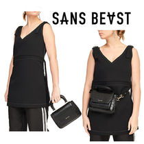 SANS BEAST Casual Style 2WAY Plain Other Animal Patterns Shoulder Bags