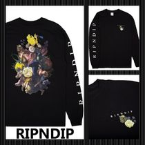 RIPNDIP Crew Neck Street Style Long Sleeves Cotton