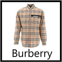 Burberry Gingham Long Sleeves Cotton Shirts