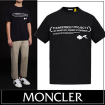 MONCLER MONCLER GENIUS Crew Neck Pullovers Street Style Plain Other Animal Patterns
