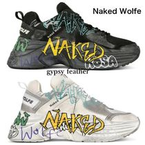 Naked Wolfe Unisex Street Style Leather Sneakers