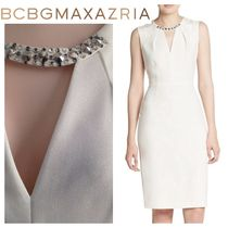 BCBG MAXAZRIA Casual Style Plain Medium Party Style Office Style