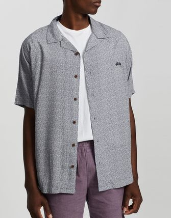 STUSSY Skater Style Button-down Paisley Short Sleeves Shirts