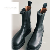 BOTTEGA VENETA Street Style Leather Chelsea Boots Shoes