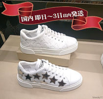 MiuMiu Star Casual Style Leather Low-Top Sneakers