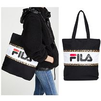 FILA Leopard Patterns Casual Style Canvas Street Style A4 2WAY