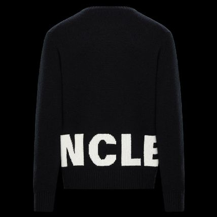 MONCLER Sweaters Crew Neck Pullovers Unisex Wool Cashmere Long Sleeves Plain 3
