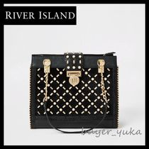 River Island Other Check Patterns Faux Fur Studded Elegant Style