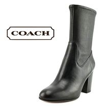 Coach Leather Ankle & Booties Boots