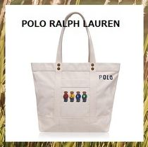 POLO RALPH LAUREN Casual Style Unisex Canvas Totes