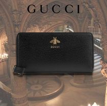 GUCCI Unisex Street Style Plain Other Animal Patterns Leather