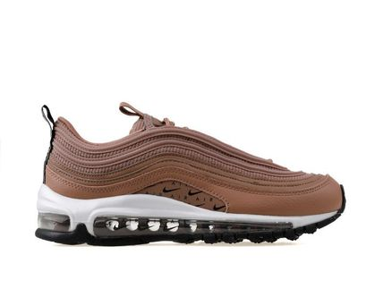 Nike AIR MAX 97 Round Toe Lace-up Casual Style Unisex Street Style Plain