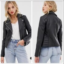 ASOS Street Style Plain Leather Medium Biker Jackets