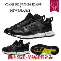 COMME des GARCONS Unisex Street Style Collaboration Plain Leather Sneakers