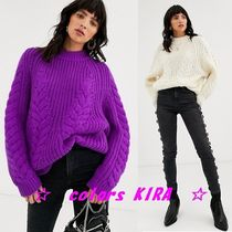 ASOS Cable Knit Long Sleeves High-Neck Knitwear