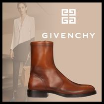 GIVENCHY Unisex Plain Leather Engineer Boots