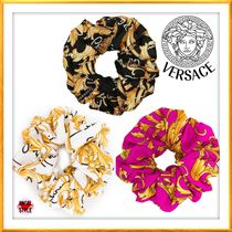 VERSACE Scrunchy Casual Style Party Style Office Style Elegant Style